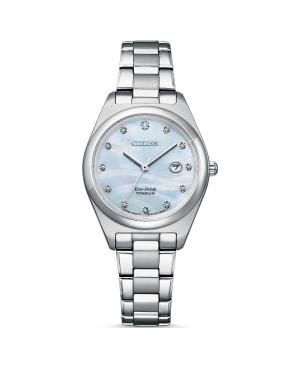 Elegancki zegarek damski CITIZEN Luxury Super Titanium EW2600-83D (EW260083D)