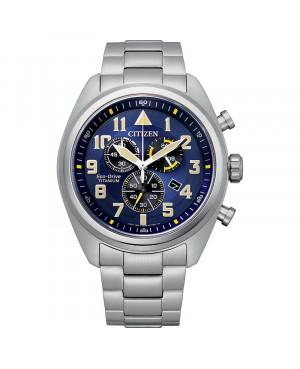 Sportowy zegarek męski CITIZEN Military Chrono AT2480-81L