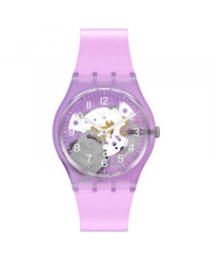 Szwajcarski modowy zegarek damski SWATCH TRAMONTO VIOLA GV136