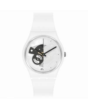 Szwajcarski modowy zegarek damski SWATCH Bioceramic SO31W101