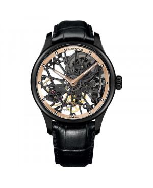 Szwajcarski elegancki zegarek męski AEROWATCH Renaissance Skeleton Cobweb 50981 NO20 (50981NO20)