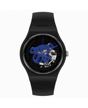 Szwajcarski modowy zegarek męski SWATCH TIME TO BLUE BIG SO32B109