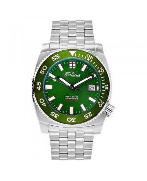 Polski zegarek męski do nurkowania BALTICUS Deep Water BLT-DW-GRN