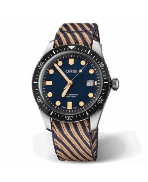 Szwajcarski, klasyczny zegarek męski ORIS Divers Sixty-Five 01 733 7720 4035-07 5 21 13 (01733772040350752113)