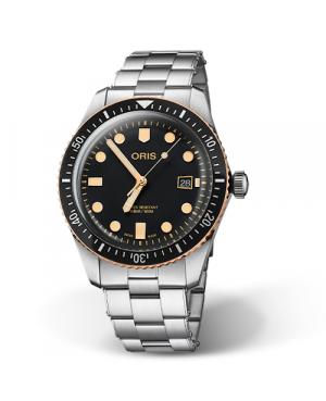 Szwajcarski, klasyczny zegarek męski ORIS  Divers Sixty-Five 01 733 7720 4354-07 8 21 18 (01733772043540782118)