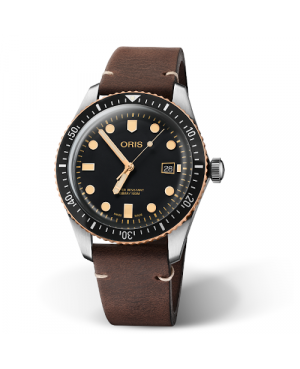 Szwajcarski, klasyczny zegarek męski ORIS Divers Sixty-Five 01 733 7720 4354-07 5 21 44 (01733772043540752144)