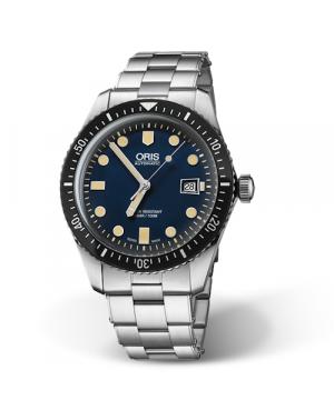 Szwajcarski, klasyczny zegarek męski ORIS  Divers Sixty-Five 01 733 7720 4055-07 8 21 18 (01733772040550782118)
