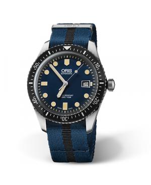 Szwajcarski, klasyczny zegarek męski ORIS Divers Sixty-Five 01 733 7720 4055-07 5 21 28FC (01733772040550752128FC)