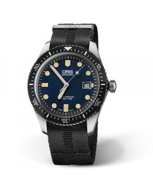 Szwajcarski, klasyczny zegarek męski ORIS Divers Sixty-Five 01 733 7720 4055-07 5 21 26FC (01733772040550752126FC)