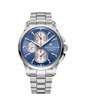 Szwajcarski sportowy zegarek męski MAURICE LACROIX PONTOS Chronograph PT6388-SS002-430-1 (PT6388SS0024301)