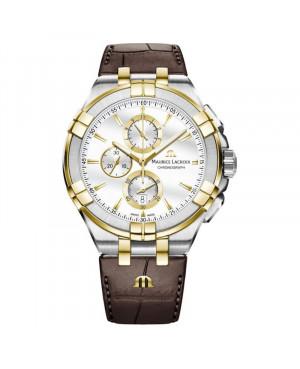 Szwajcarski elegancki zegarek męski MAURICE LACROIX AIKON Chronograph AI1018-PVY11-132-1 (AI1018PVY111321)