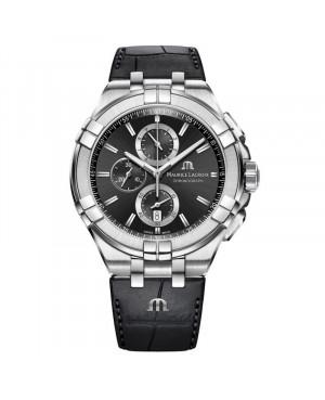 Szwajcarski sportowy zegarek męski MAURICE LACROIX AIKON Chronograph AI1018-SS001-330-1 (AI1018SS0013301)