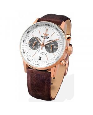 Sportowy zegarek męski VOSTOK EUROPE Gaz-14 Limousine Chronograph VK64/560B600 (VK64560B600)