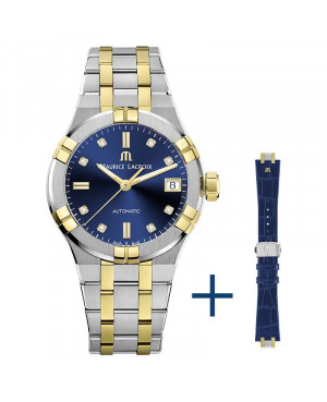 Szwajcarski elegancki zegarek damski MAURICE LACROIX AIKON AI6006-PVY13-450-2 (AI6006PVY134502)