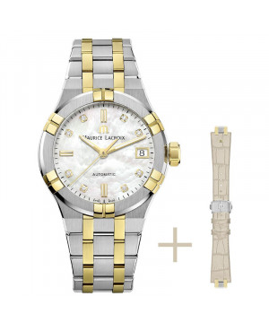 Szwajcarski elegancki zegarek damski MAURICE LACROIX AIKON AI6006-PVY13-170-2 (AI6006PVY131702)