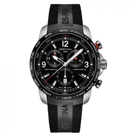 Szwajcarski, sportowy zegarek męski Certina DS Podium Chronograph 1/100 sec C001.647.27.057.00 (C0016472705700)