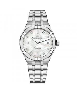 Szwajcarski elegancki zegarek damski MAURICE LACROIX AIKON AI6007-SS002-170-1 (AI6007SS0021701)