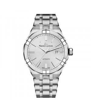 Szwajcarski elegancki zegarek męski MAURICE LACROIX AIKON AI6008-SS002-130-1 (AI6008SS0021301)