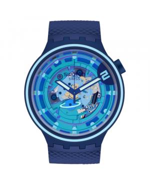 Szwajcarski modowy zegarek męski SWATCH BIG BOLD PLANETS SECOND HOME SB01N101