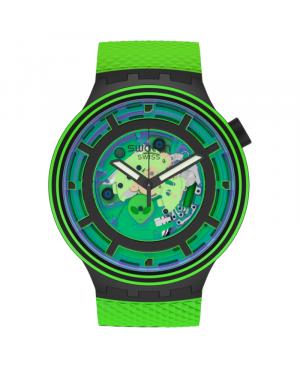 Szwajcarski modowy zegarek męski SWATCH BIG BOLD PLANETS COME IN PEACE ! SB01B125