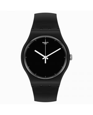 Szwajcarski modowy zegarek unisex SWATCH BIOCERAMIC THINK TIME BLACK SO32B106