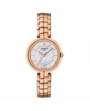 Szwajcarski biżuteryjny zegarek damski TISSOT Flamingo T094.210.33.111.01 (T0942103311101)