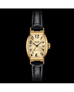 Szwajcarski elegancki zegarek damski TISSOT Heritage Porto Mechanical Small Lady  T128.161.36.262.00 (T1281613626200)