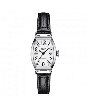 Szwajcarski elegancki zegarek damski TISSOT Heritage Porto Mechanical Small Lady T128.161.16.012.00 (T1281611601200)