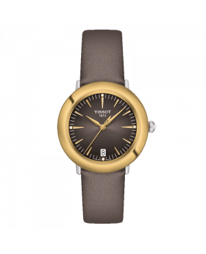 Szwajcarski elegancki zegarek damski TISSOT Glendora 18K Gold T929.210.46.066.00 (T9292104606600)