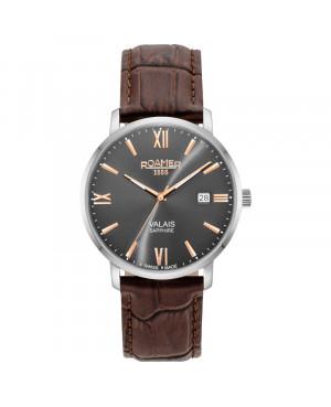 Szwajcarski klasyczny zegarek męski ROAMER Valais 958833 41 53 05 (958833415305)