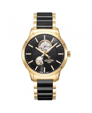 Szwajcarski elegancki zegarek męski ROAMER C-Line Automatic 672661 48 55 60 (672661485560)