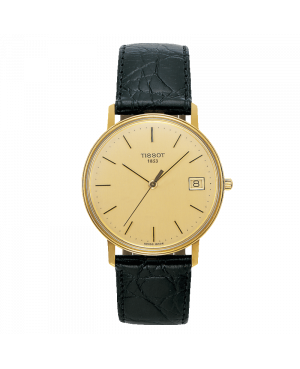 Szwajcarski klasyczny zegarek męski TISSOT Goldrun Hesalite 18K Gold T71.3.401.21 (T71340121)