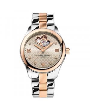 Szwajcarski elegancki zegarek damski FREDERIQUE CONSTANT Ladies Automatic Double Heart Beat FC-310LGDHB3B2B (FC310LGDHB3B2B)
