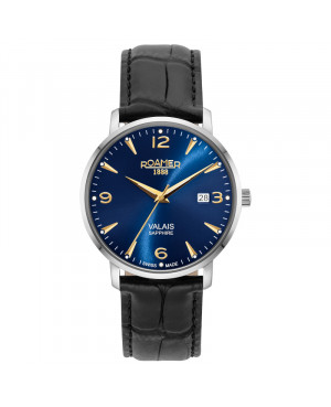 Szwajcarski klasyczny zegarek męski ROAMER Valais 958833 41 40 05