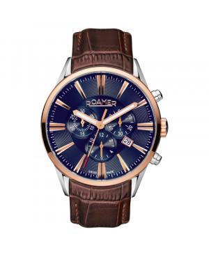 Szwajcarski elegancki zegarek męski ROAMER SUPERIOR CHRONO 508837 41 85 05