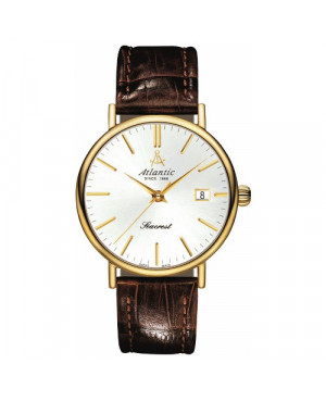 Klasyczny szwajcarski zegarek męski Atlantic Seacrest Big Size 50354.45.21 (503544521)