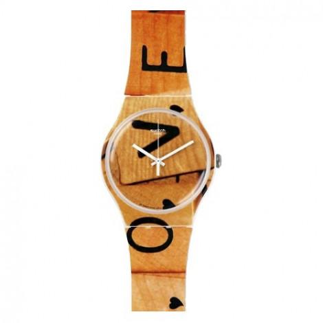 Szwajcarski, modowy zegarek SWATCH Originals New Gent SUOW116 LOVE GAME