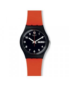 Szwajcarski, modowy zegarek damski SWATCH Originals Gent GB754 RED GRIN