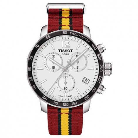 Szwajcarski, sportowy zegarek Tissot Quickster Chronograph NBA Miami Heat Special Edition T095.417.17.037.08 (T0954171703708)