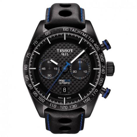 Szwajcarski, sportowy zegarek męski TISSOT PRS 516 Automatic Chronograph T100.427.36.201.00 (T1004273620100)