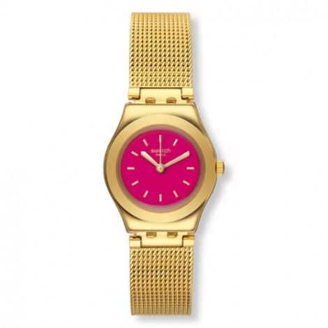 Szwajcarski, modowy zegarek damski SWATCH Irony Lady YSG142M TWIN PINK