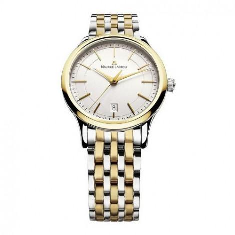 Szwajcarski klasyczny zegarek męski MAURICE LACROIX Les Classiques Date LC1117-PVY13-130 (LC1117PVY13130)