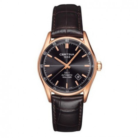 Szwajcarski, klasyczny zegarek męski Certina DS-1 Index C006.407.36.081.00 (C0064073608100)