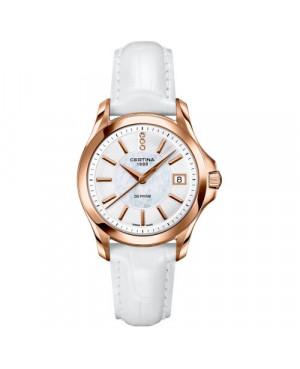 Szwajcarski, klasyczny zegarek damski Certina DS Prime Lady Round C004.210.36.116.00 (C0042103611600)
