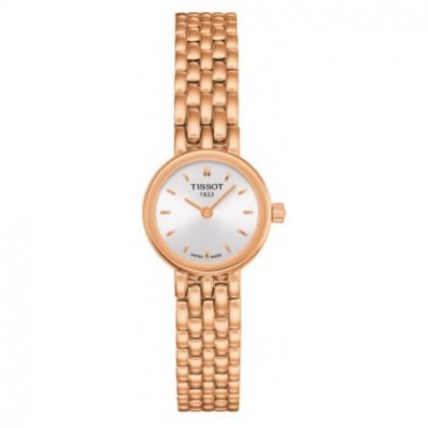 Szwajcarski, elegancki zegarek damski Tissot Lovely T058.009.33.031.01 (T0580093303101) na bransolecie
