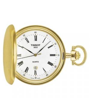 Szwajcarski, kieszonkowy zegarek męski Tissot T-Pocket SAVONNETTE T83.4.553.13 (T83455313) klasyczny kwarcowy