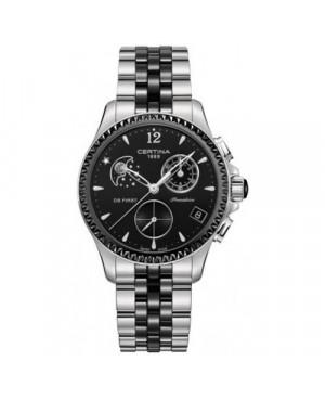 Szwajcarski, sportowy zegarek damski Certina DS First Lady Chronograph Moon Phase C030.250.11.056.00 (C0302501105600)