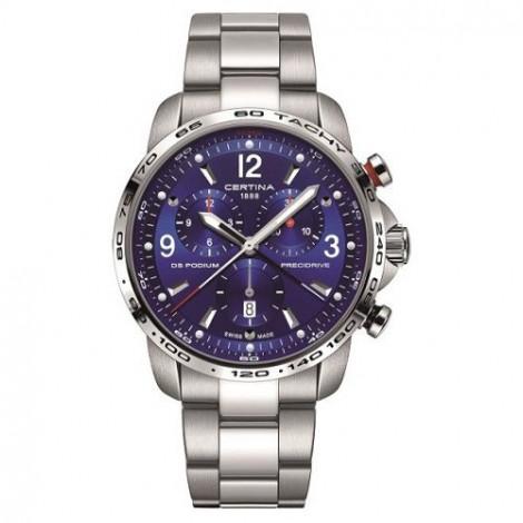 Szwajcarski, sportowy zegarek męski Certina DS Podium Chronograph 1/100 sec C001.647.11.047.00 (C0016471104700)