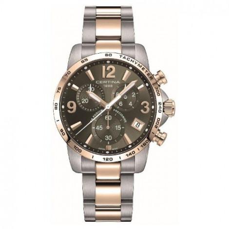 Szwajcarski, sportowy zegarek męski Certina DS Podium Chronograph 1/10 sec C034.417.22.087.00 (C0344172208700)
