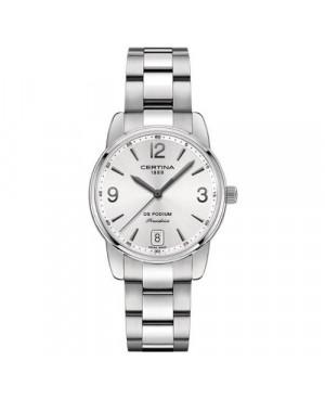 Szwajcarski, klasyczny zegarek damski DS Certina Podium Lady Quartz C034.210.11.037.00 (C0342101103700)